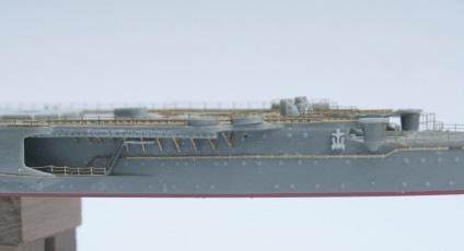 船体の側面作業